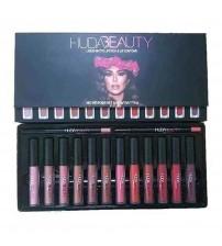 HUDA BEAUTY Liquid Matte Lipstick & Lip Contour -Ser of 12