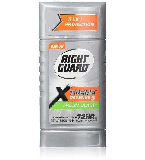 Right Guard Deodorant Stick for Unisex, Fresh Blast Scent, 2.6 Ounce