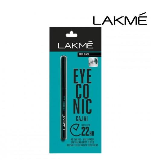 Lakme Eyeconic Kajal Pencil (Deep-Black,-0.35-g)