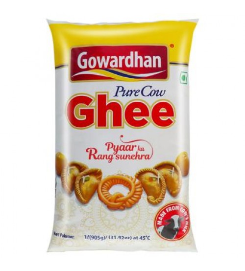 Gowardhan Pure Cow-Ghee1L (Pouch)
