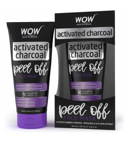 WOW Skin Science Activated Charcoal Face Mask - Peel Off - No Parabens & Mineral Oils - 100 ml