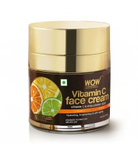 WOW Skin Science Vitamin C Face Cream - Oil Free, Quick Absorbing - For All Skin Types - No Parabens, Silicones, Color, Mineral Oil & Synthetic Fragrance - 50 ml