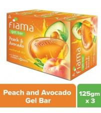 Fiama Peach  Avocado Gel Bar 125 g(pack of 3)